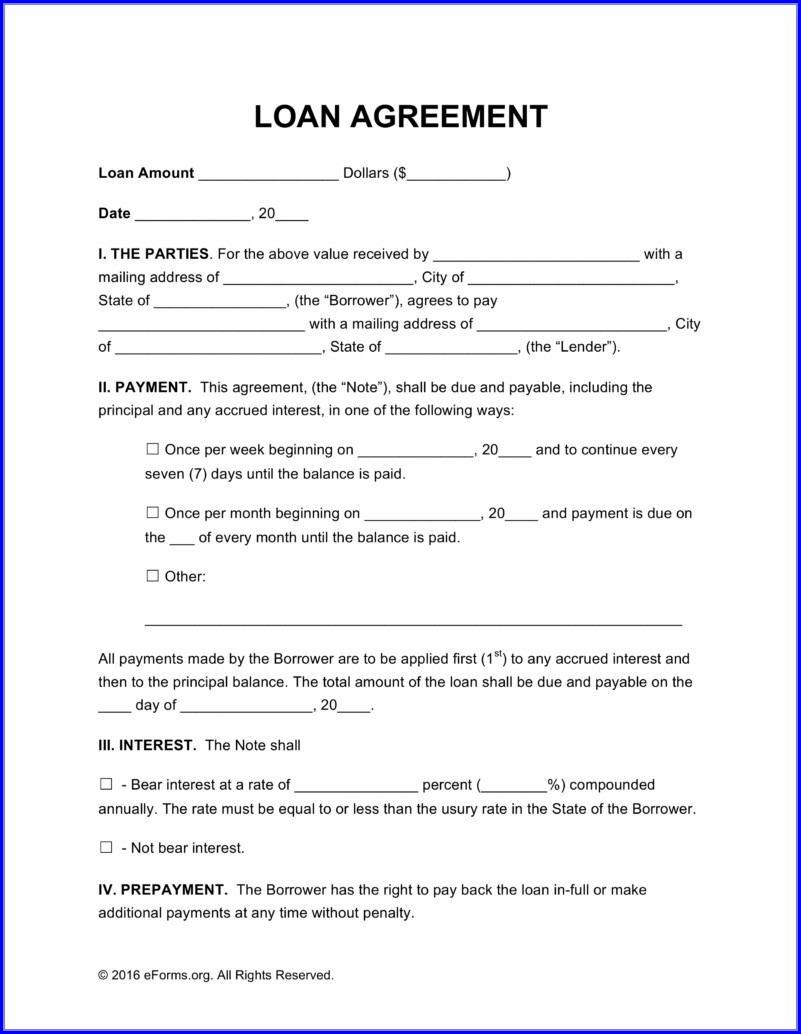 Loan Agreement Template Pdf