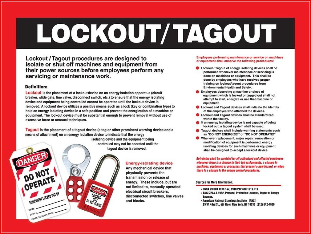 Lockout Tagout Program Template
