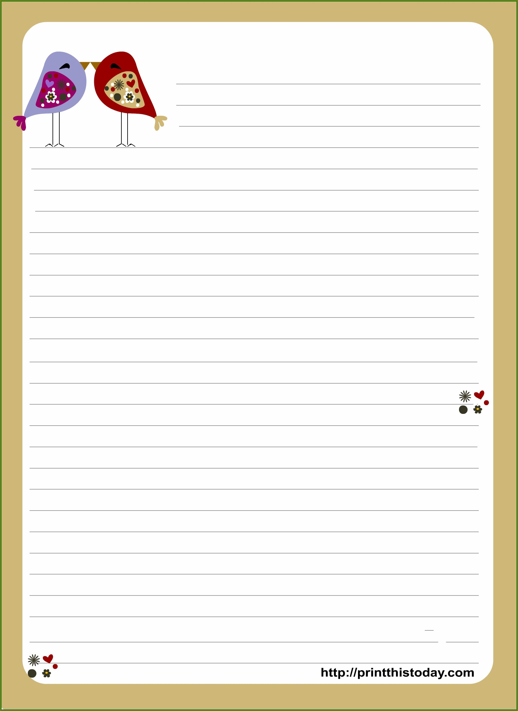 Love Letter Stationery Template