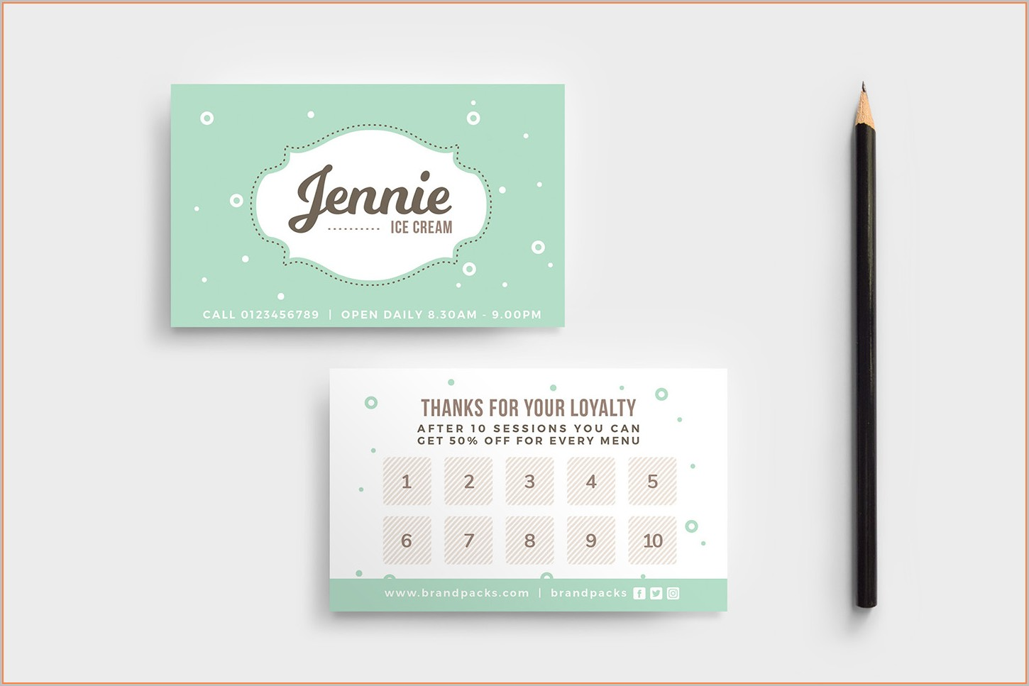 Loyalty Card Design Template Free