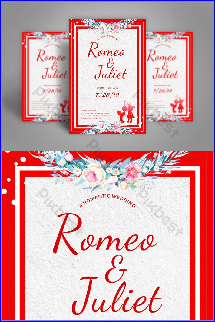 Marriage Invitation Card Template Free Download Psd