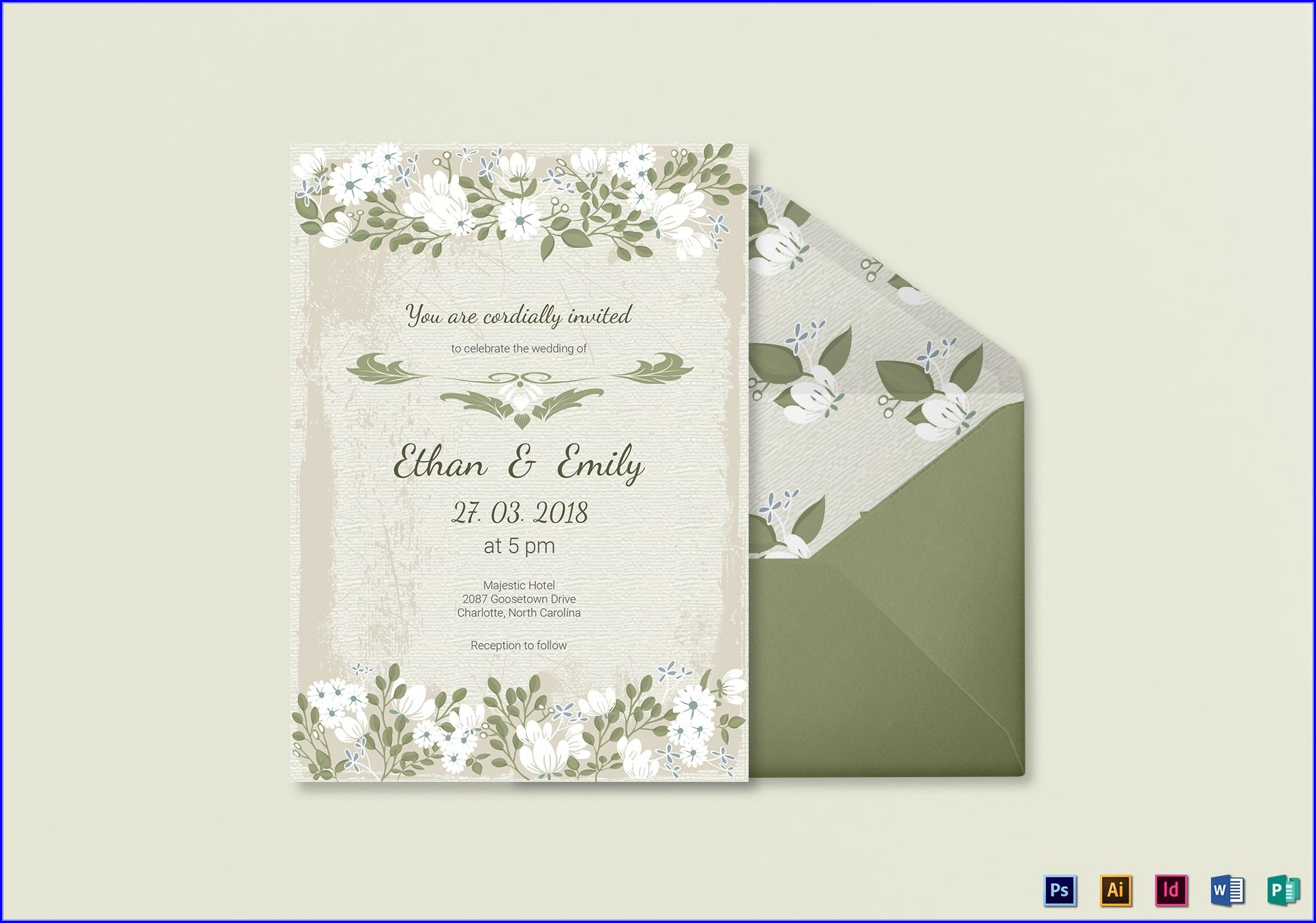 Marriage Invitation Card Template Free Download