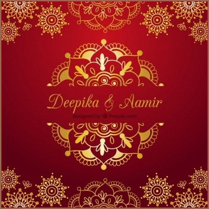 Marriage Invitation Indian Wedding Invitation Cards Templates Free Download