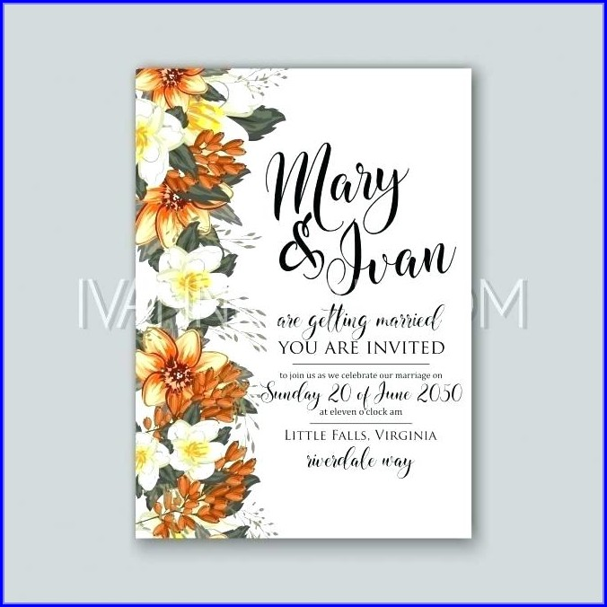 Marriage Invitation Wedding Card Design Template Free Download