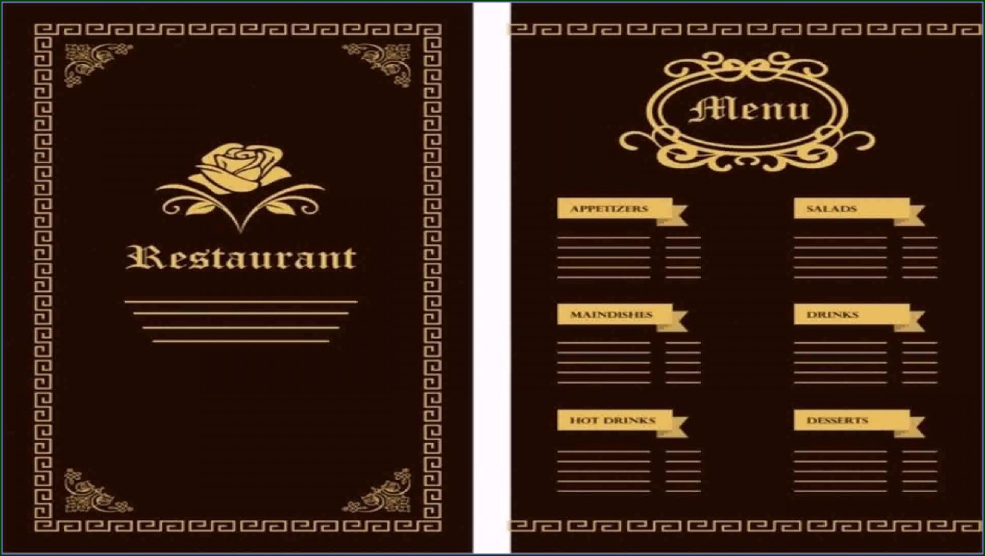 Menu Designs Templates Free