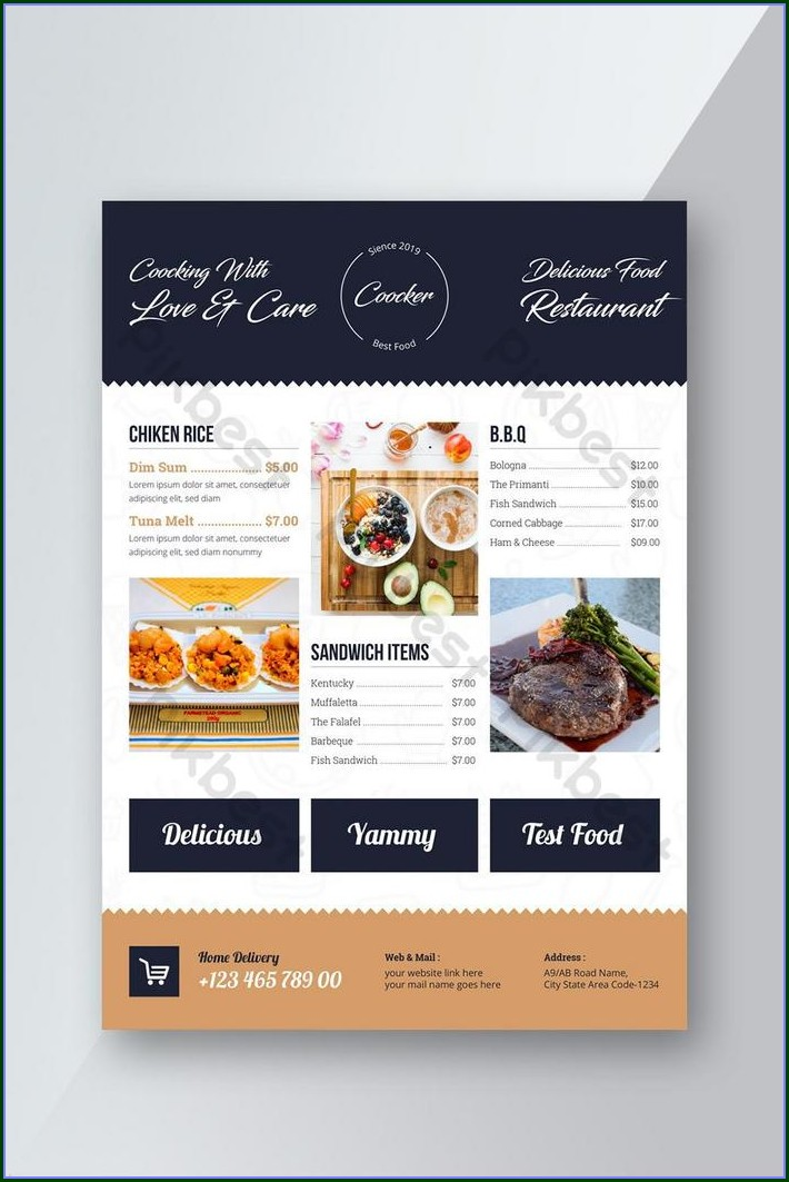 Menu Flyer Template Free