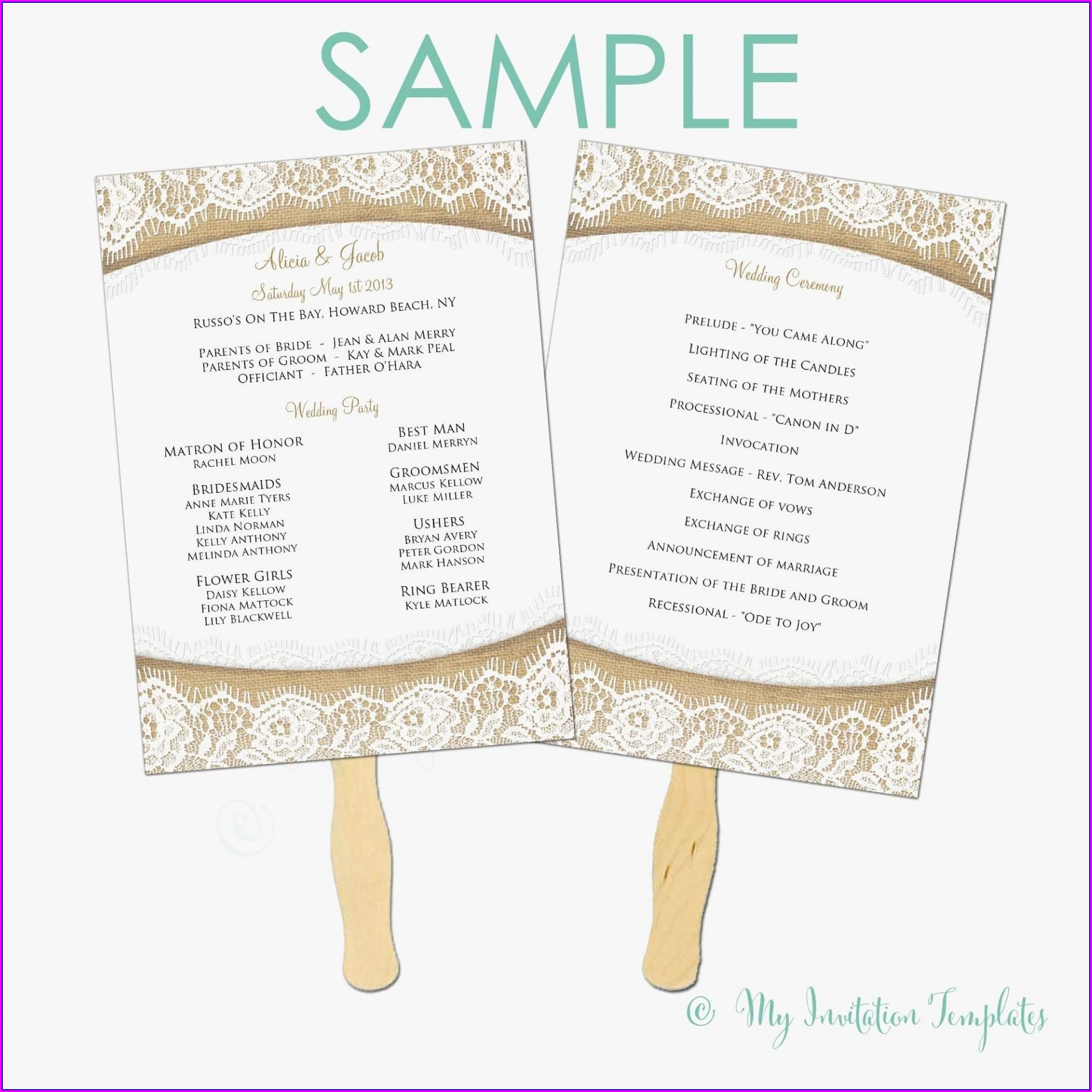 Microsoft Office Wedding Program Templates