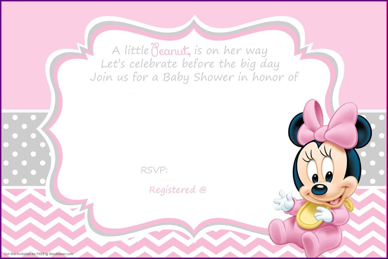 Minnie Mouse Baby Shower Invitation Template