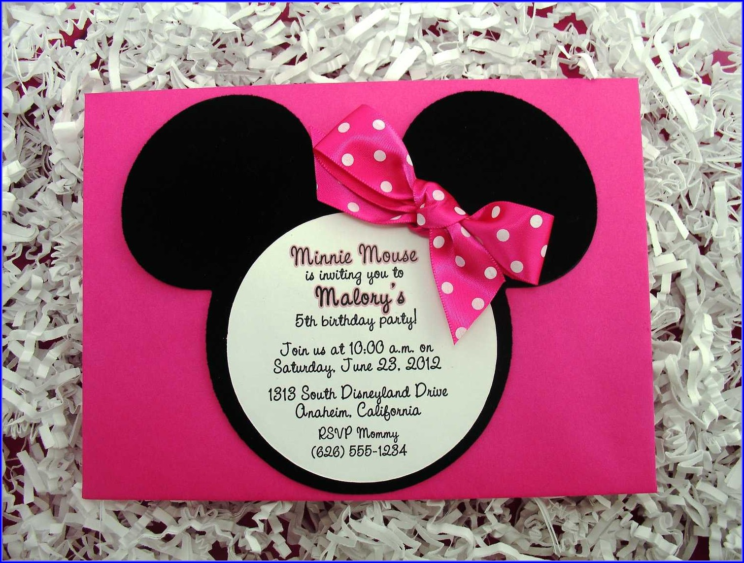 Minnie Mouse Party Invitations Templates