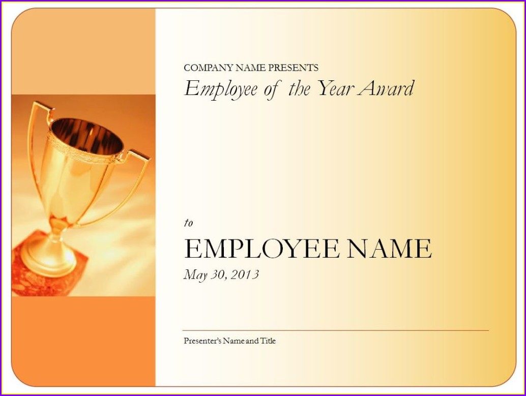 Modern Employee Of The Year Certificate Template