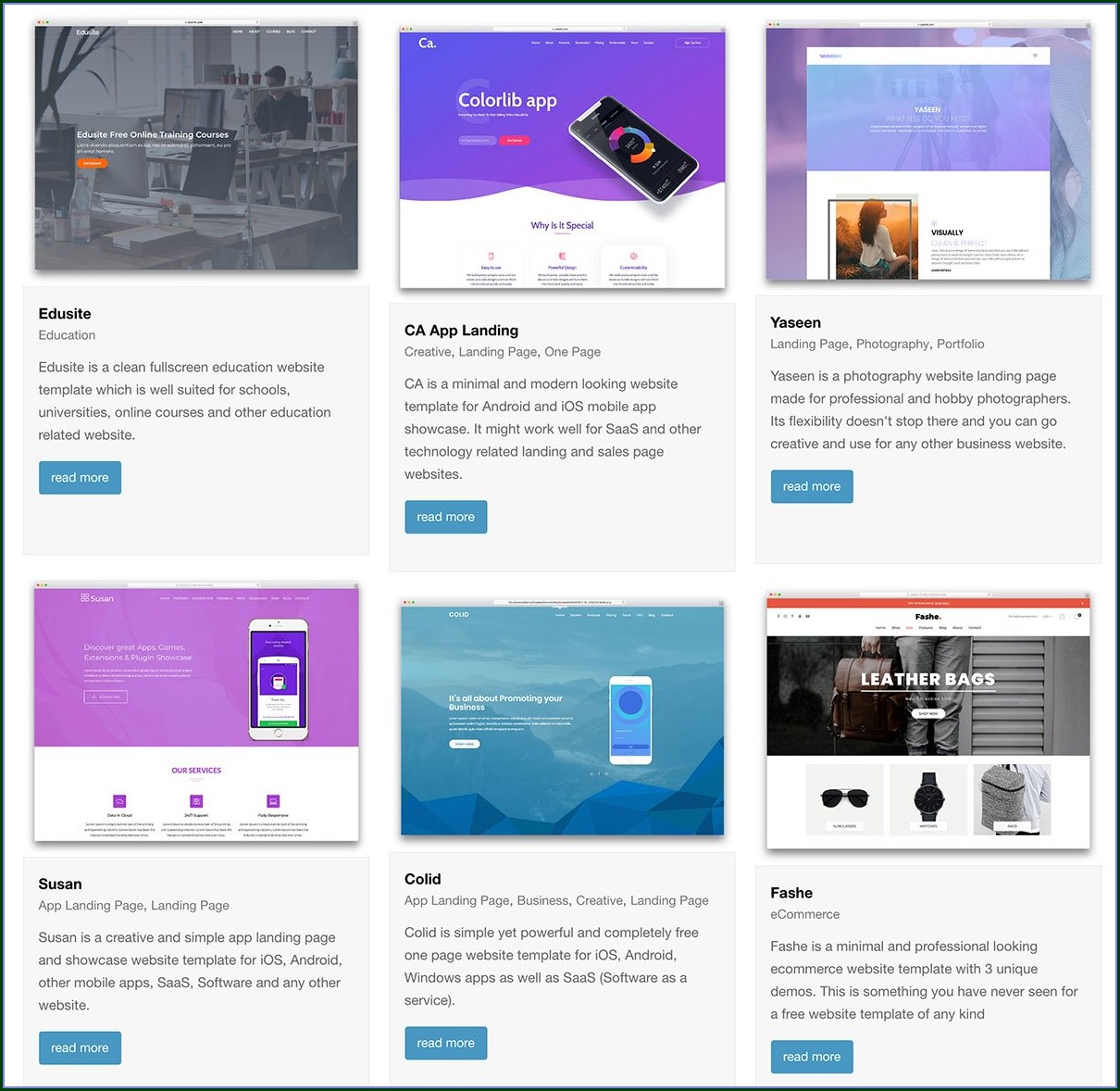 Modern Website Templates