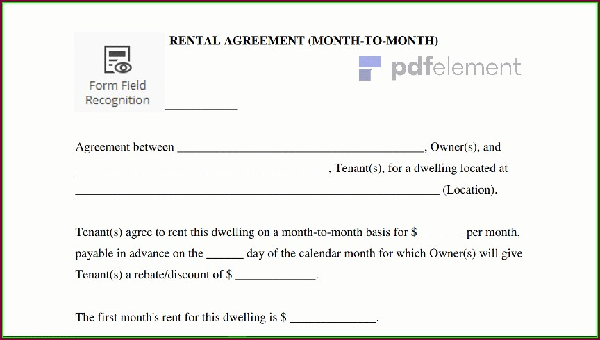 Monthly Rental Agreement Template