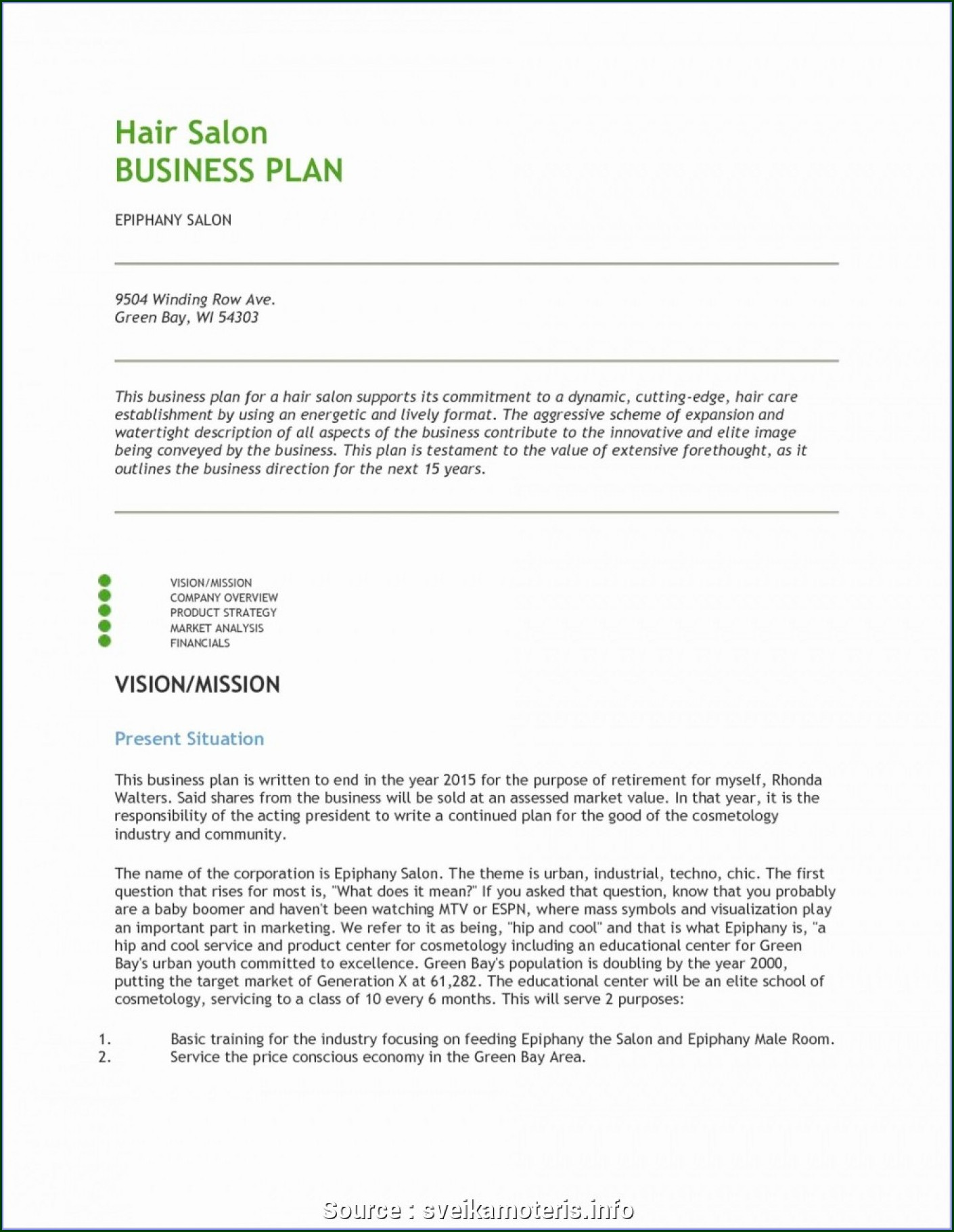 Nail Salon Business Plan Template Pdf