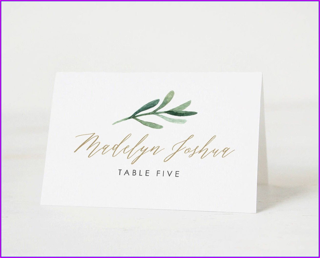 Name Place Cards Template Word