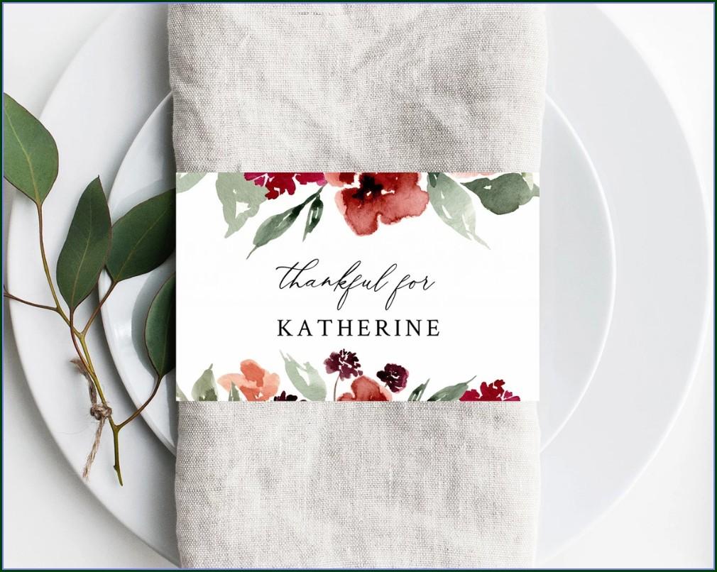 Napkin Ring Template Printable