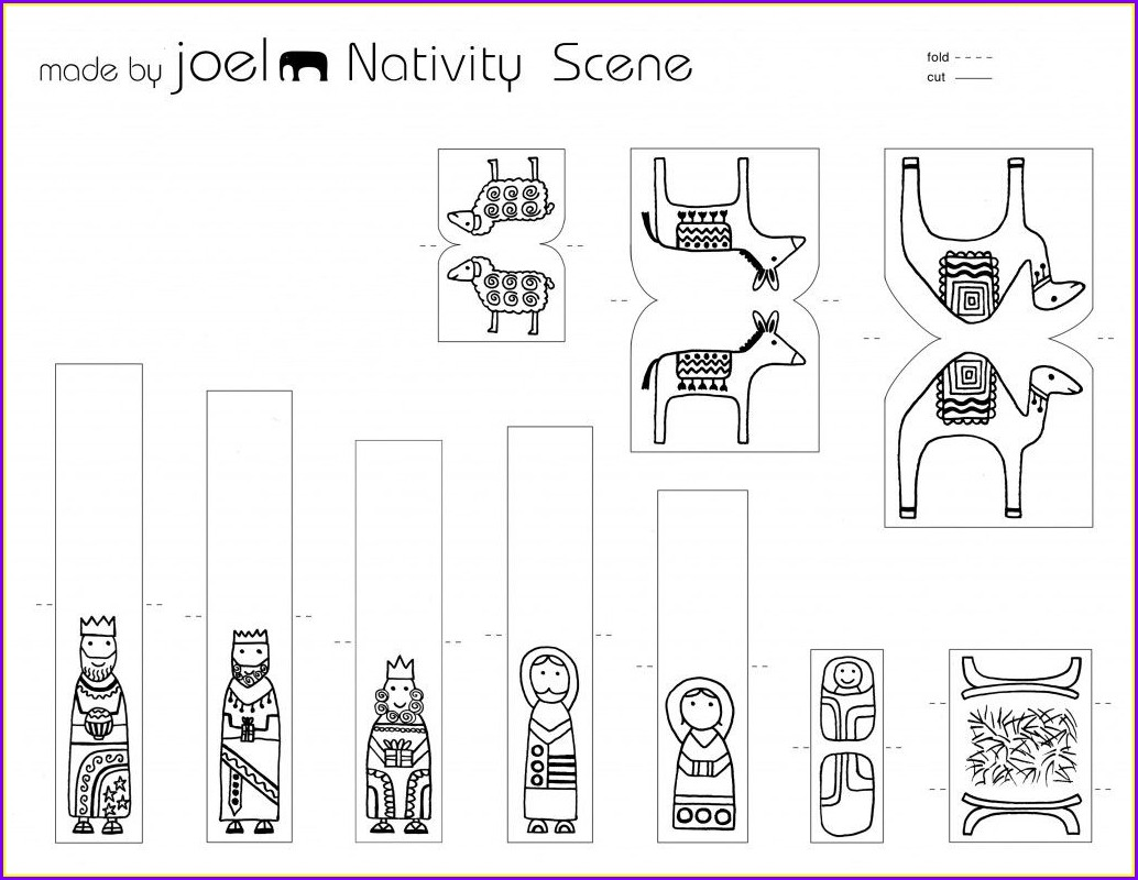 Nativity Scene Template