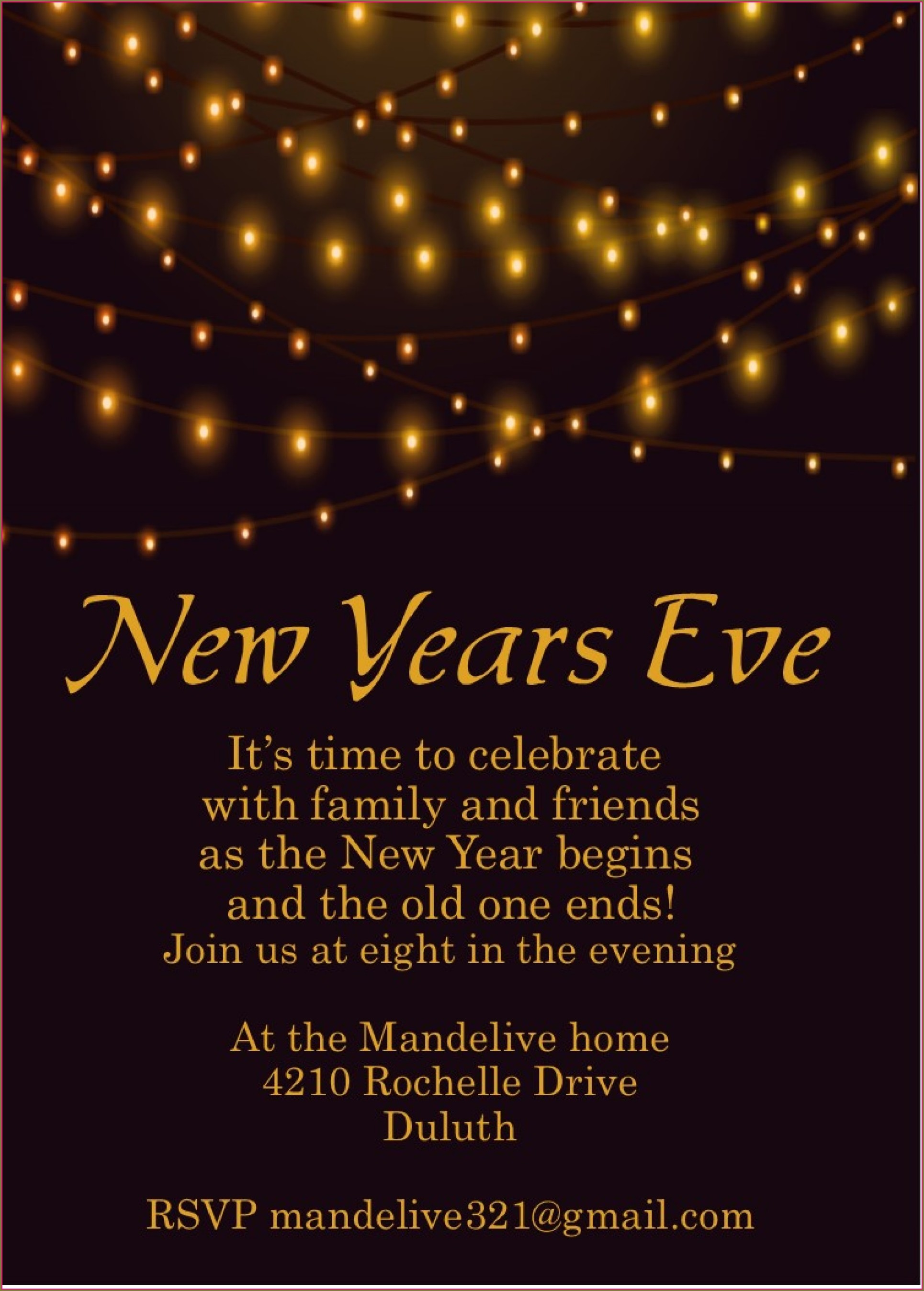 New Years Eve Party Invitation Templates Free