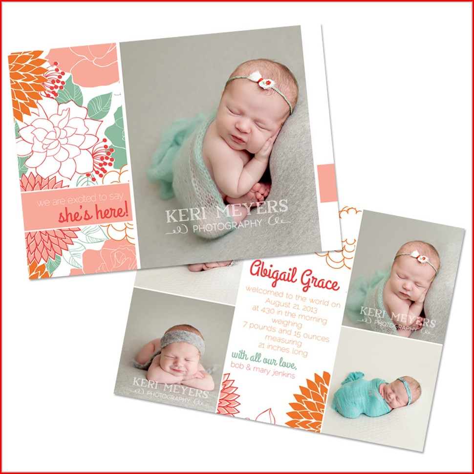 Newborn Announcement Template Free