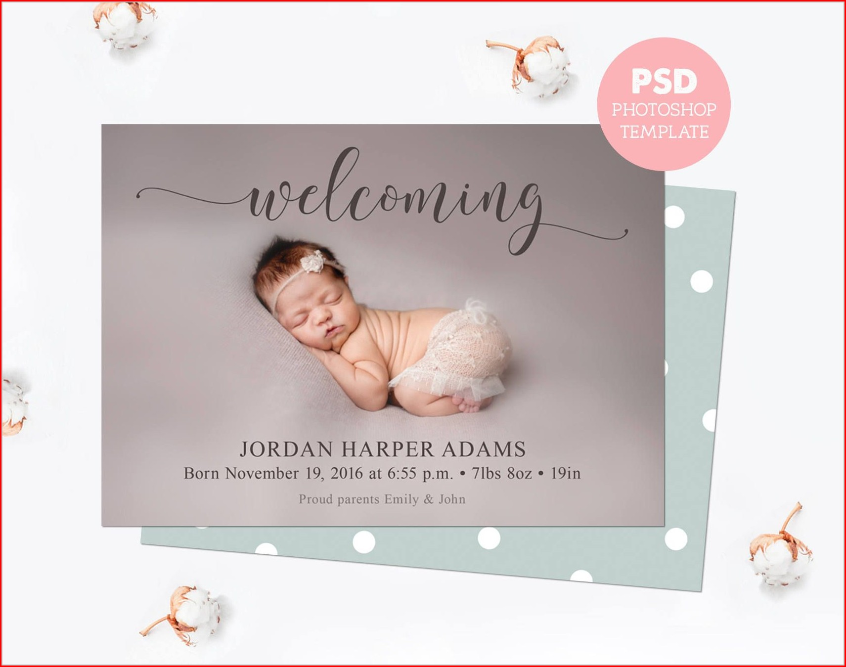 Newborn Announcement Template