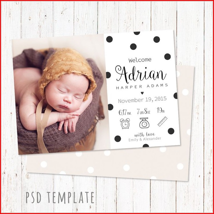 Newborn Baby Boy Announcement Template