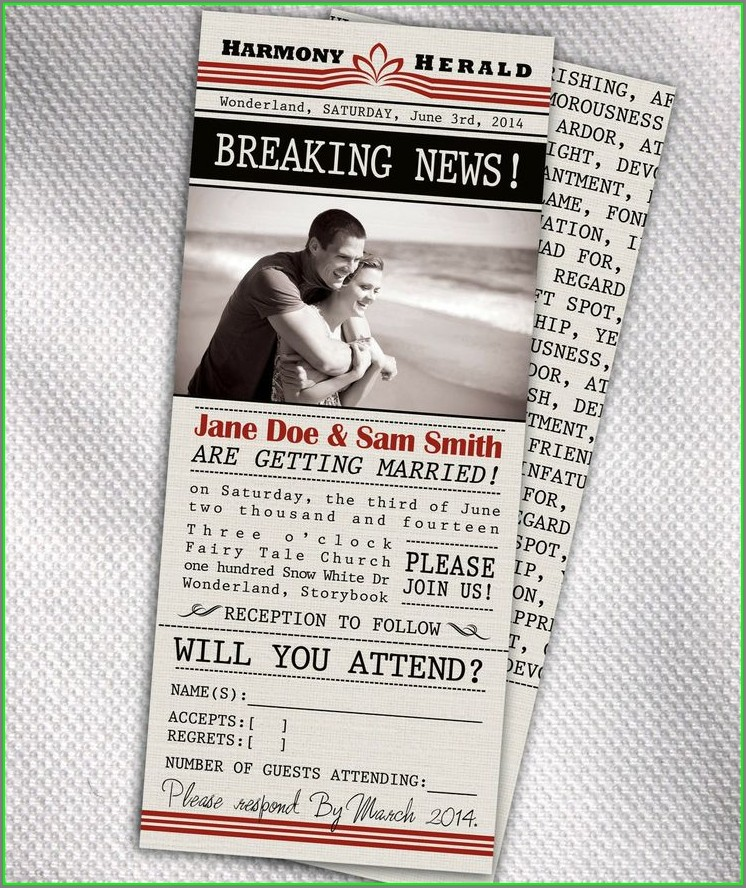 Newspaper Invitation Template