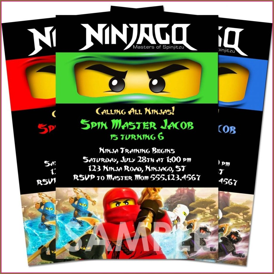 Ninjago Birthday Invitation Template Free