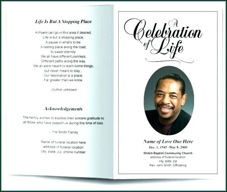 Obituary Bookmark Template Free
