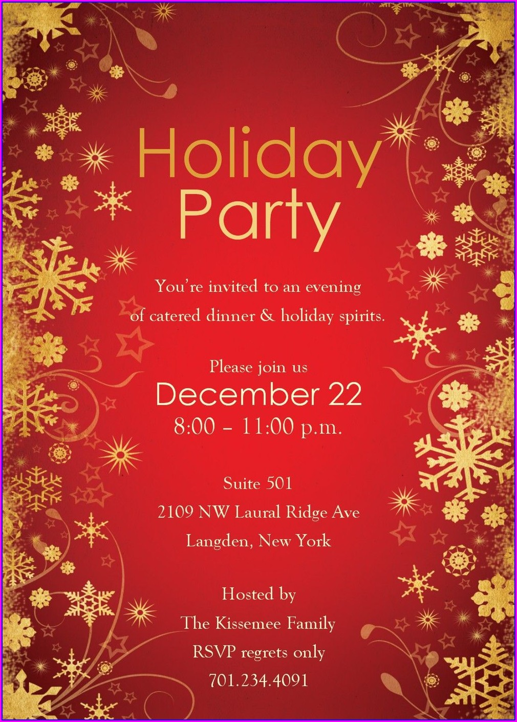 Office Holiday Party Invitation Template Free