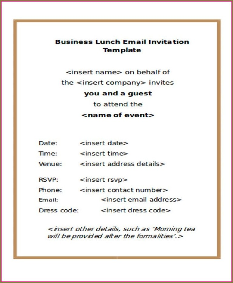 Office Team Dinner Invitation Email Template