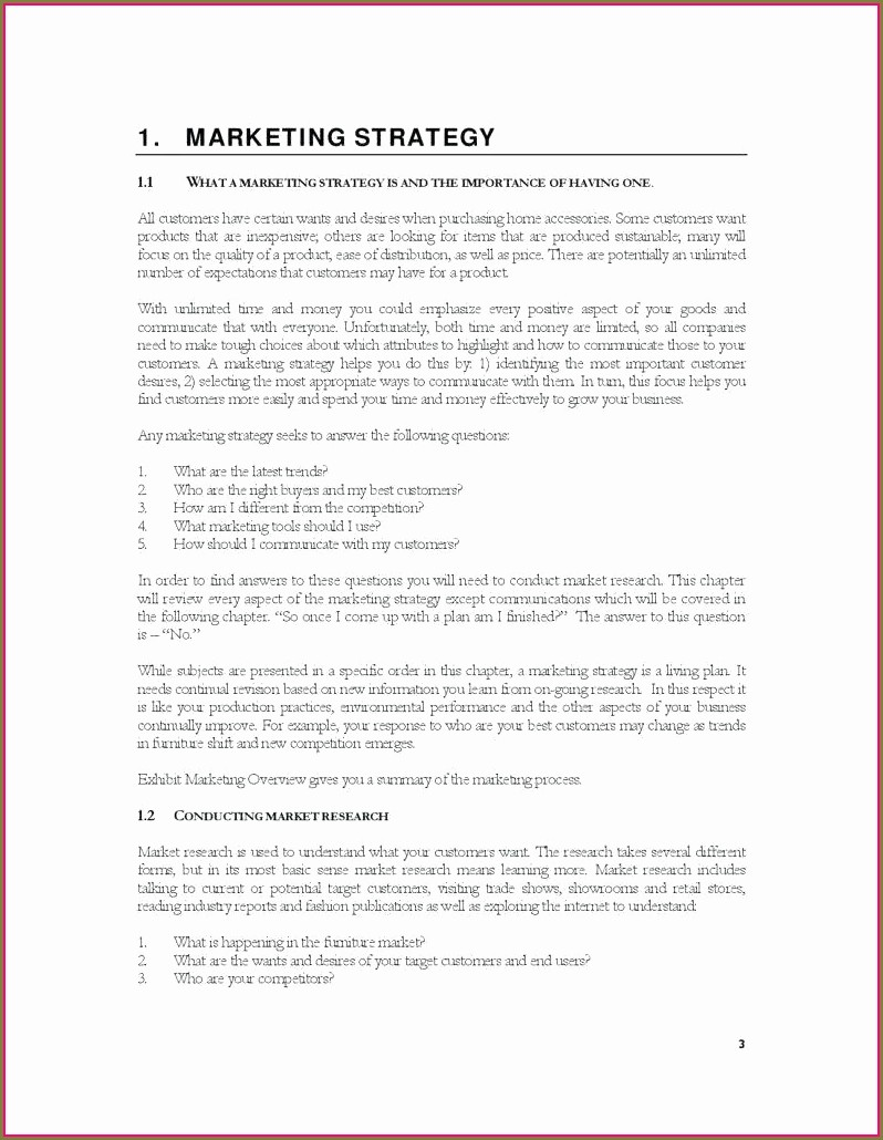 Online Clothing Store Business Plan Template