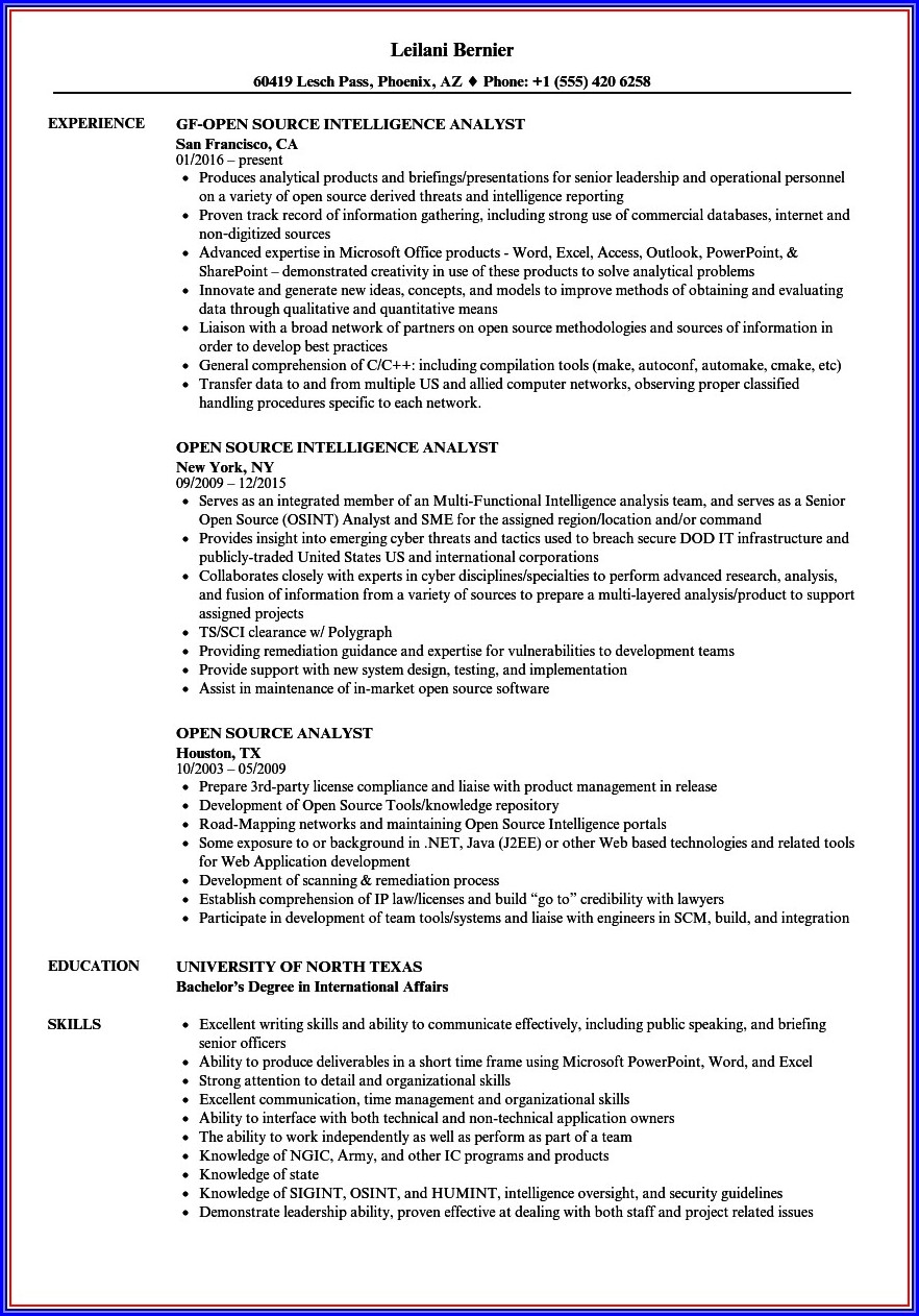 Open Source Resume Templates
