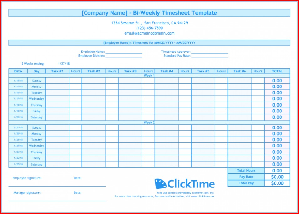 Overtime Timesheet Template