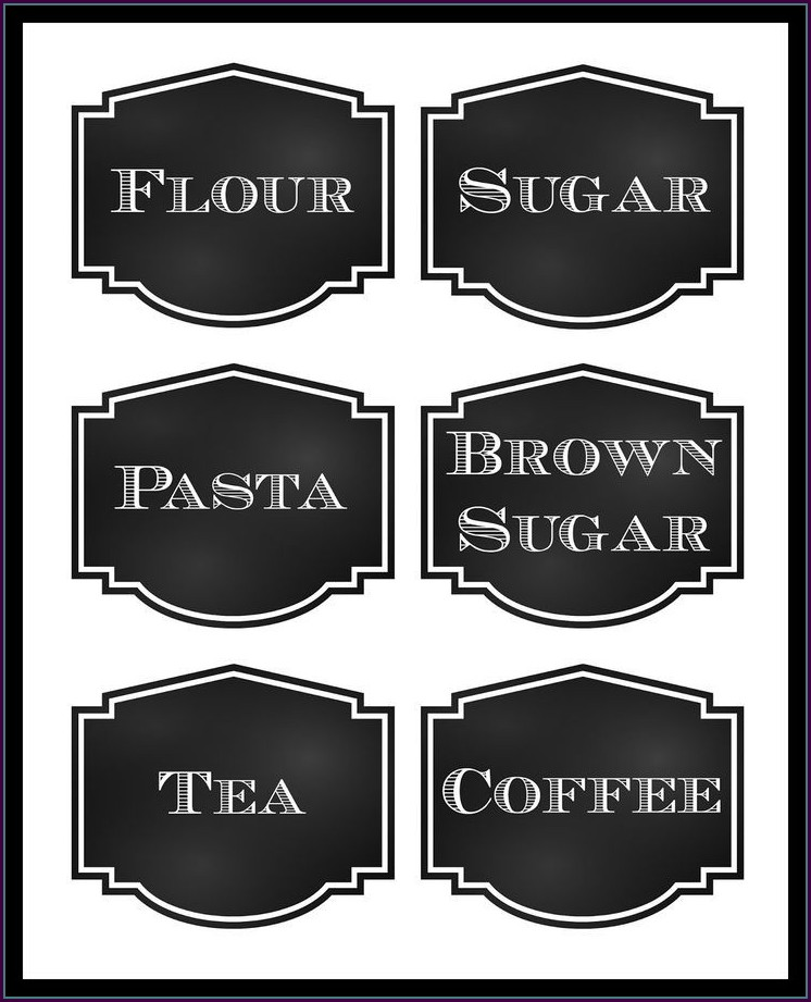 Pantry Labels Template