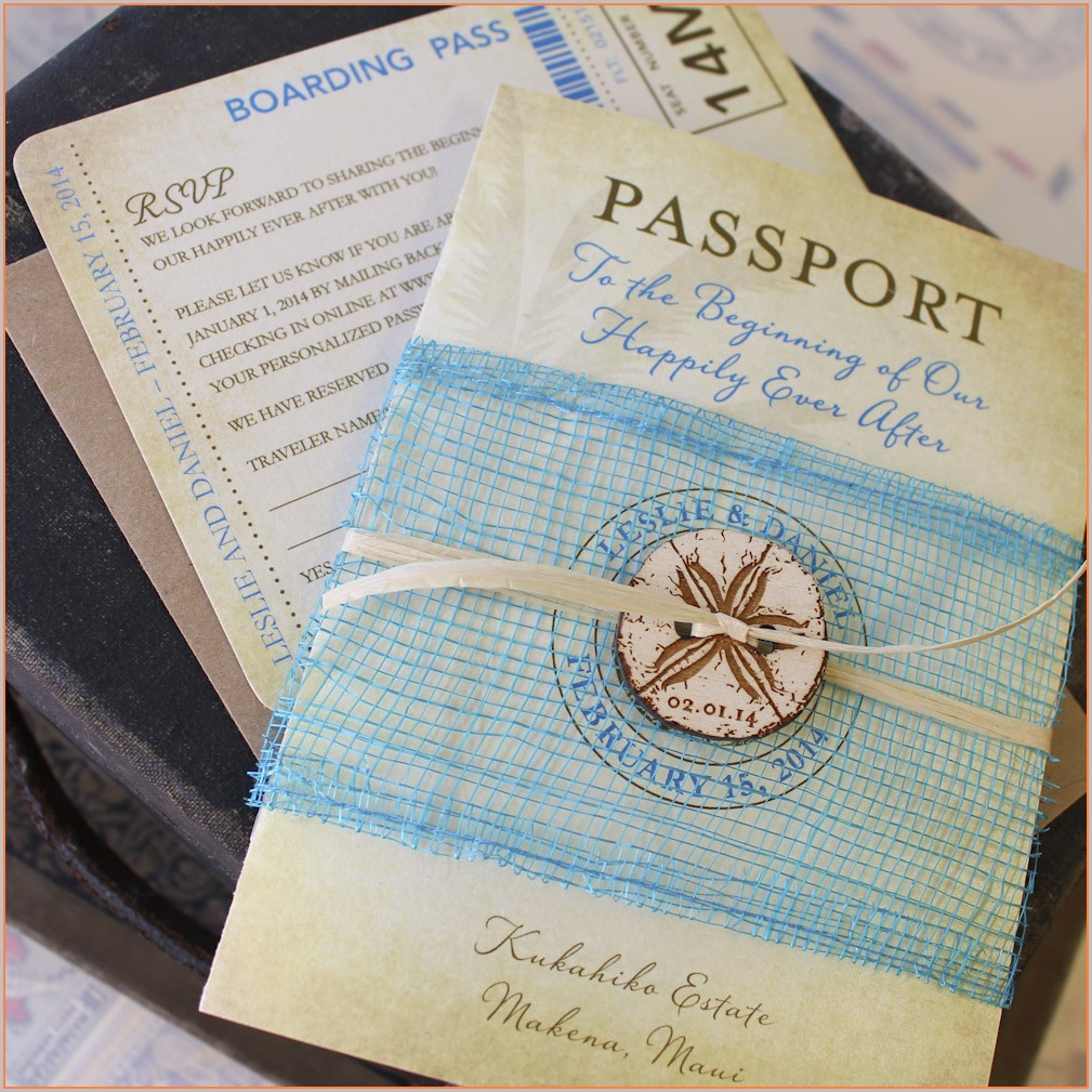 Passport Style Invitation Template Free