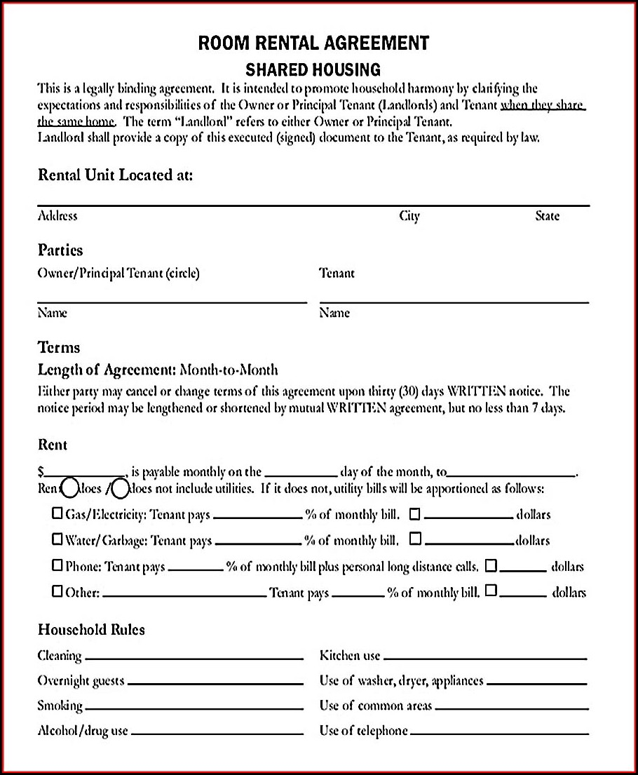 Pdf Free Rental Agreement Template