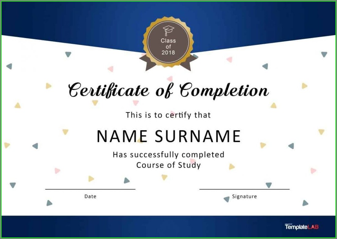 Perfect Attendance Certificate Template Word
