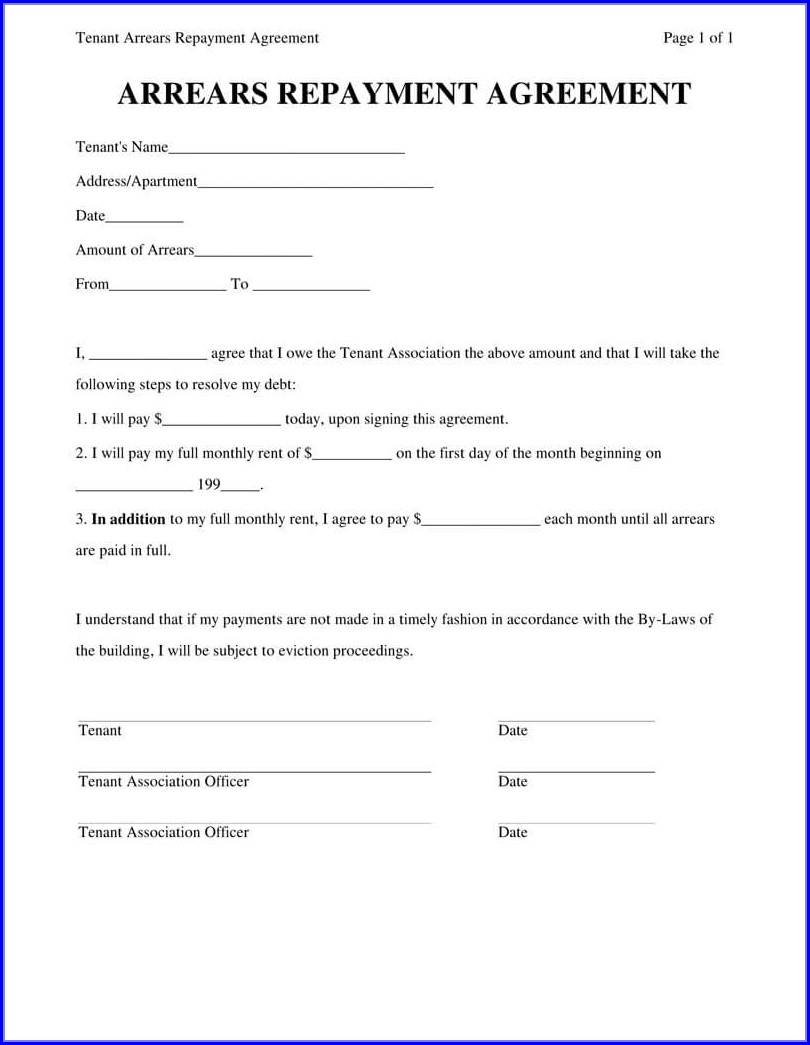 Personal Loan Agreement Template Pdf