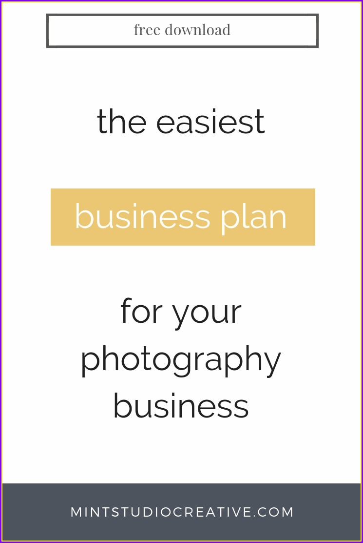 Photography Business Plan Template Free Download