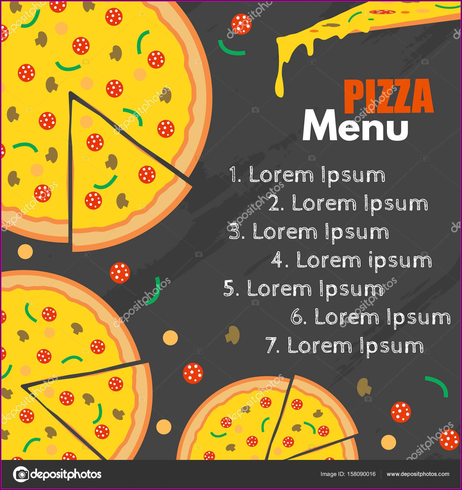 Pizza Menu Background Template
