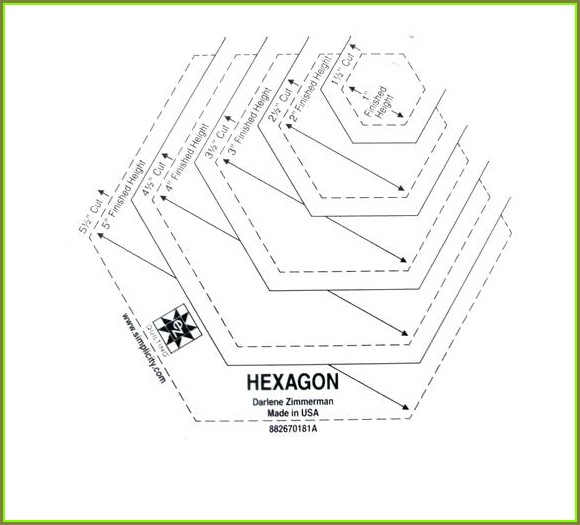 Plastic Hexagon Templates For Quilting