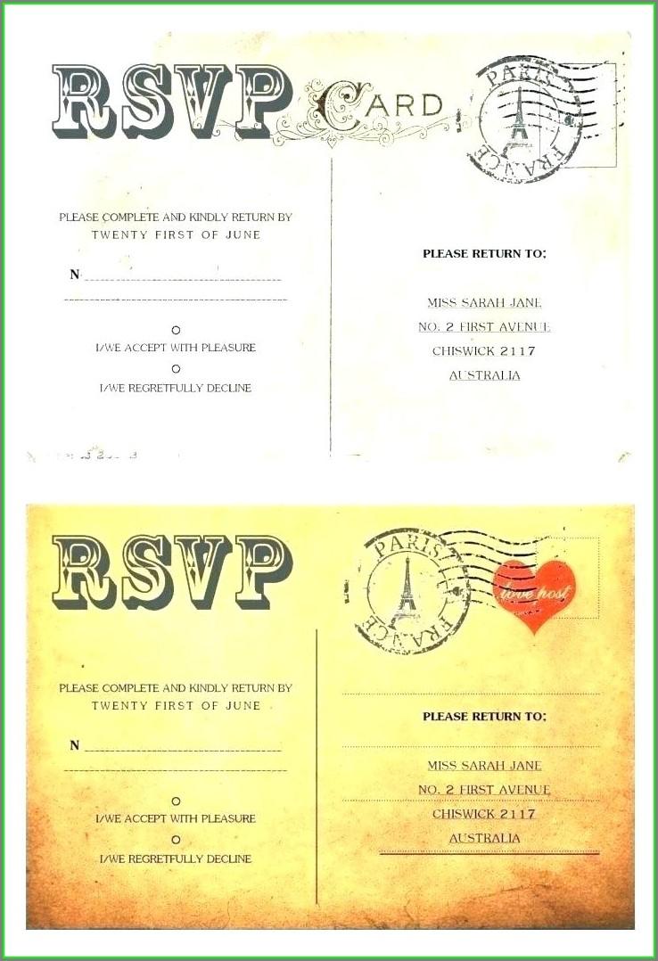 Postcard Size Invitation Template