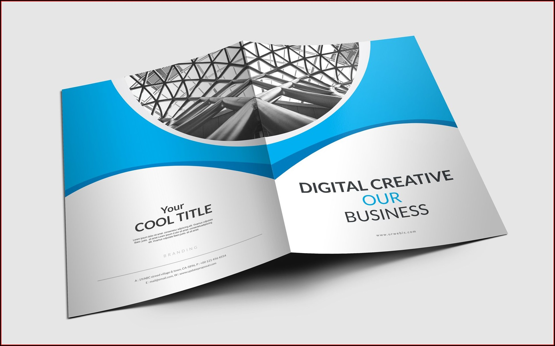 Presentation Folder Template Photoshop