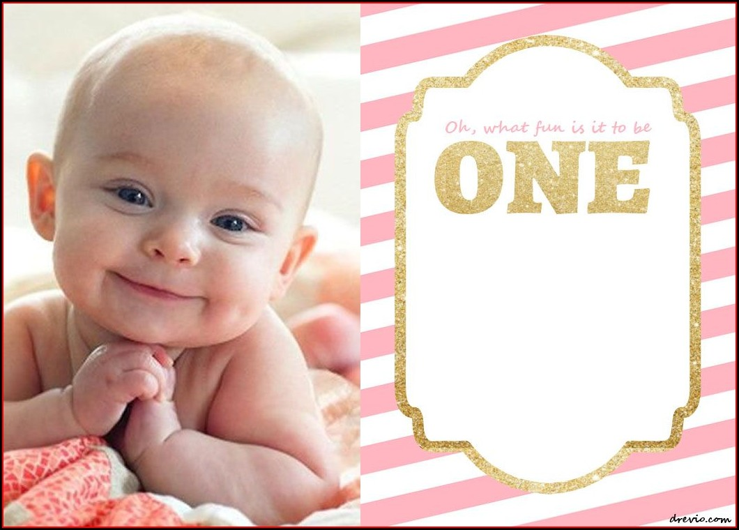 Princess 1st Birthday Invitation Template
