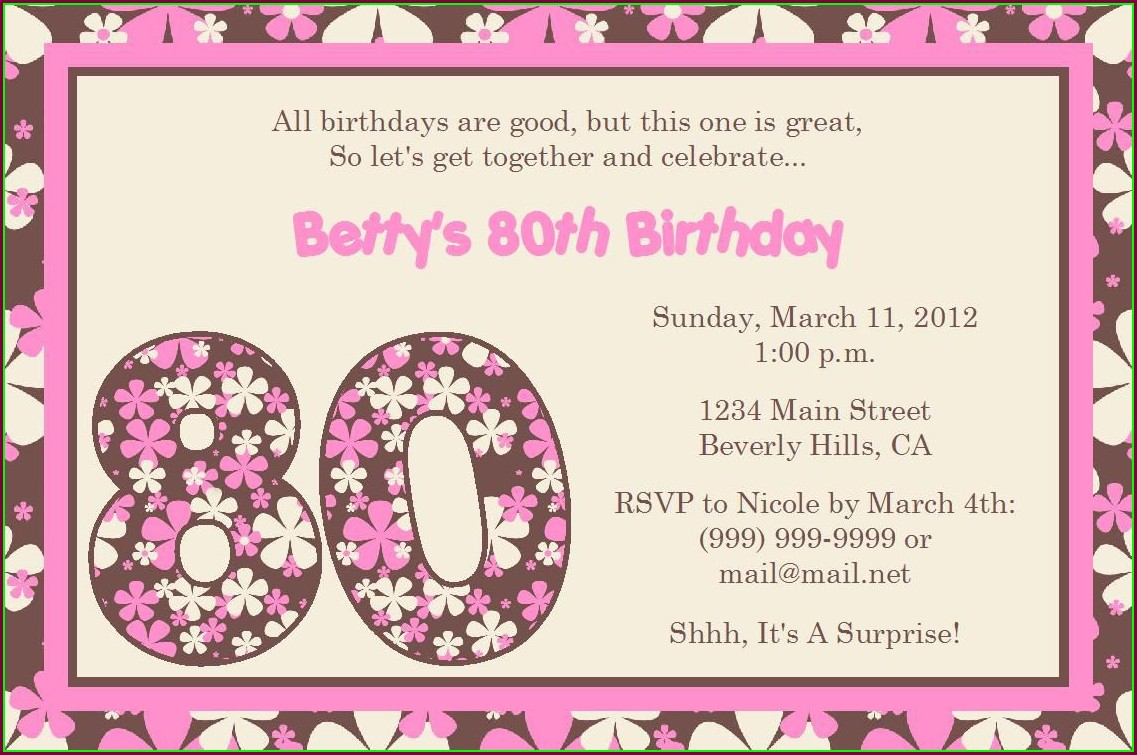 Printable 18th Birthday Invitations Templates Free
