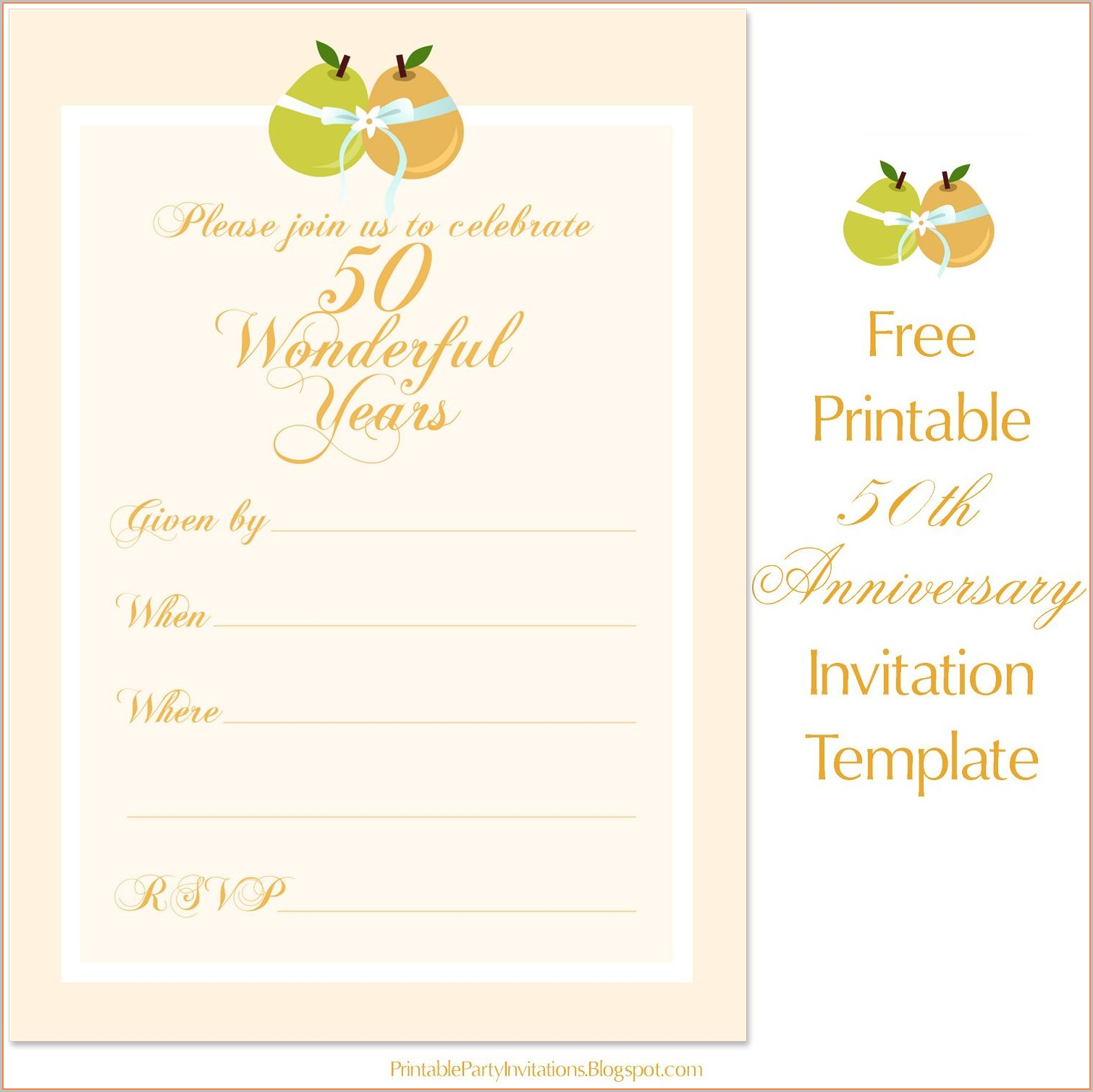 Printable 50th Anniversary Template