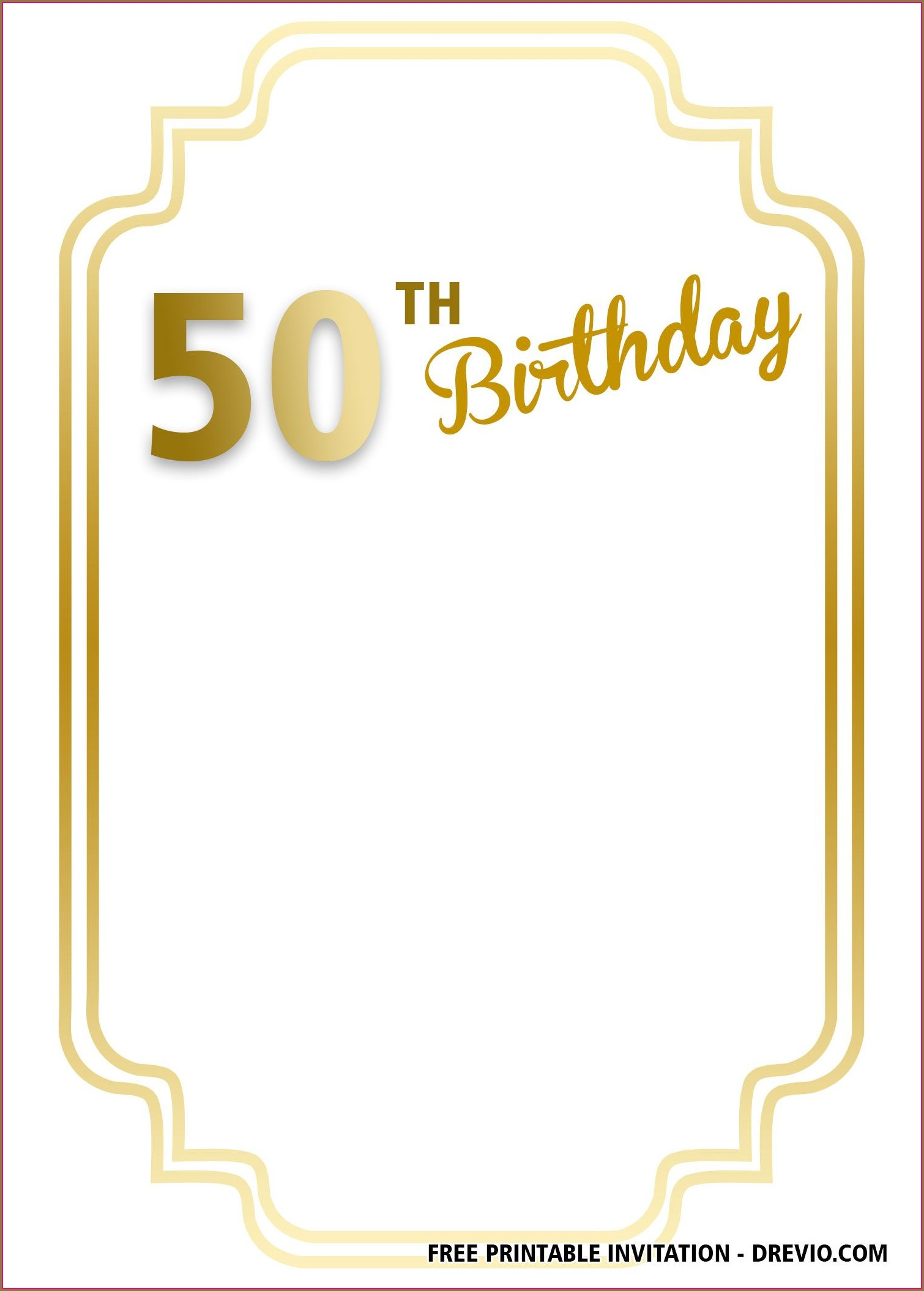 Printable 90th Birthday Invitation Templates Free
