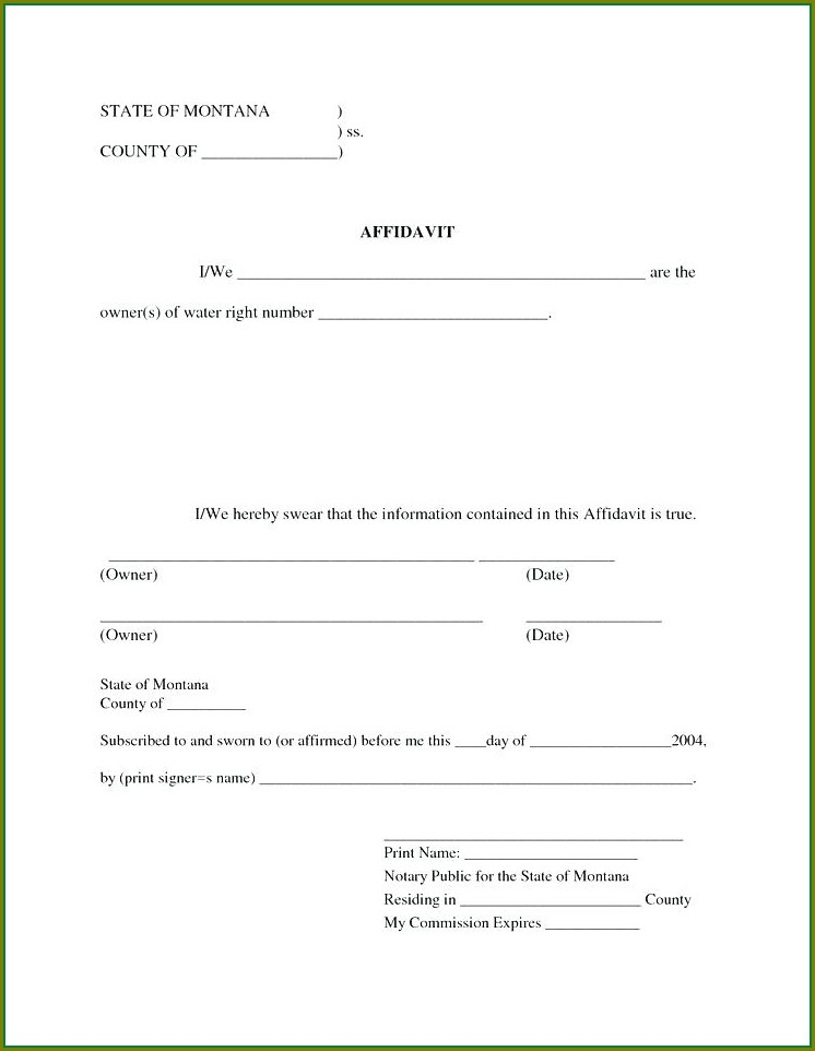 Printable Affidavit Template South Africa