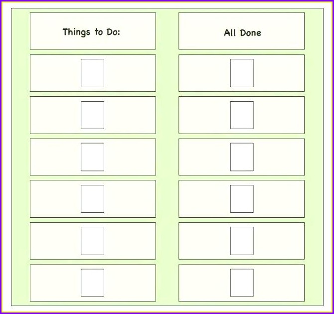 Printable Autism Visual Schedule Template