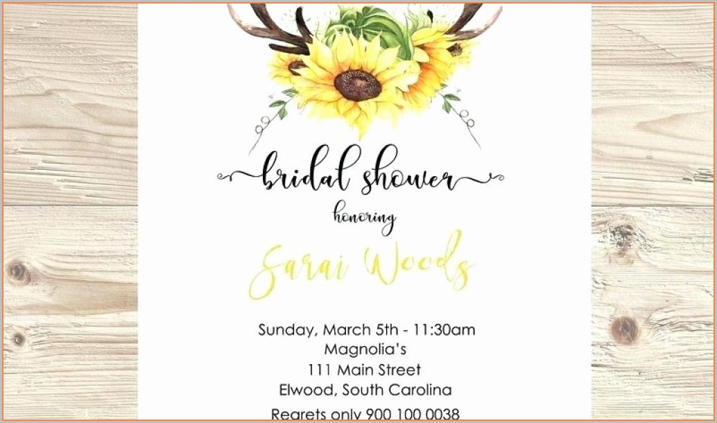 Printable Blank Sunflower Invitation Template