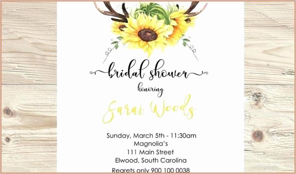 Printable Blank Sunflower Invitation Template